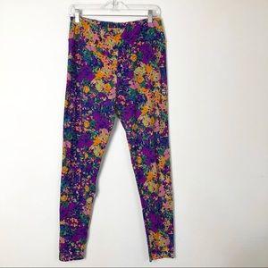 Lularoe multicolor floral tall and curvy legging